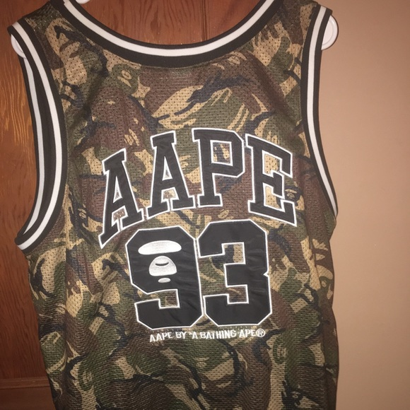 a701873d7 Bape Shirts | Aape By Bathing Ape X Champion Jersey | Poshmark